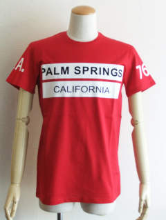 PALM SPRINGS ロゴ プリント Tシャツ (RED)