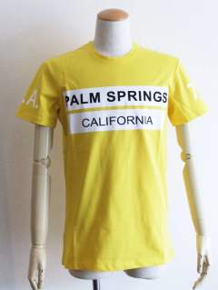 PALM SPRINGS ロゴ プリント Tシャツ (YELLOW)